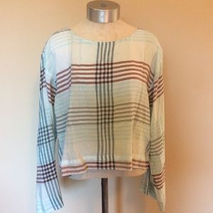 Anthropologie cloth and stone plaid long sleeve